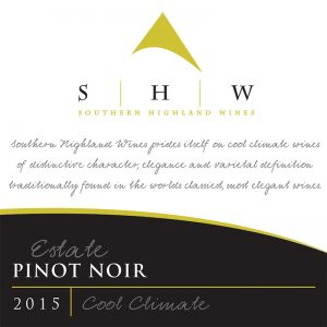 SHW Estate Pinot Noir, Southern Highlands Winery