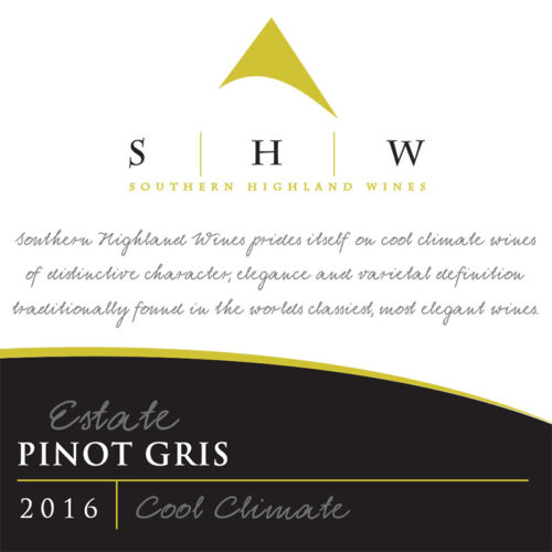 SHW Estate Pino Gris, Southern Highlands Winery