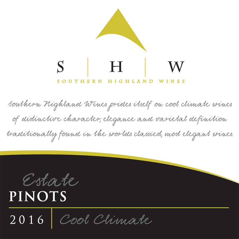 SHW Estate Pinots, Southern Highlands Winery