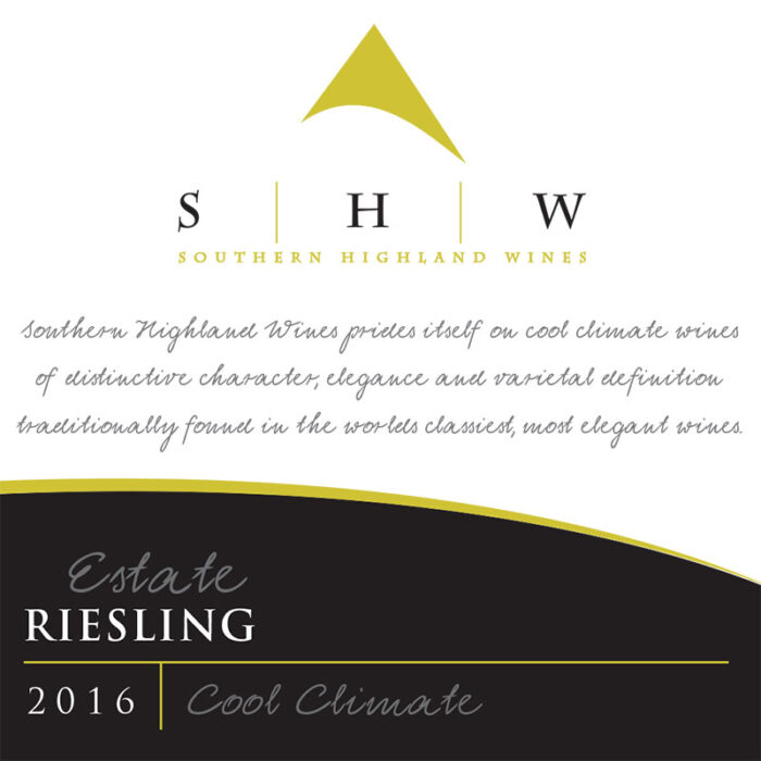 SHW Estate Riesling, Southern Highlands Winery