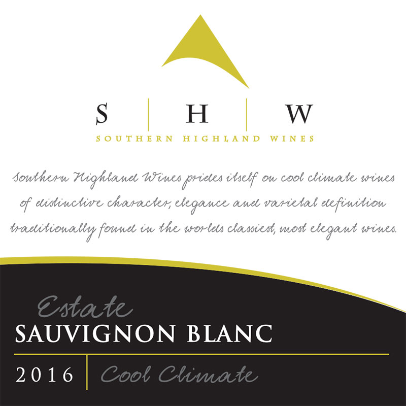 SHW Estate Sauvingnon Blanc, Southern Highlands Winery