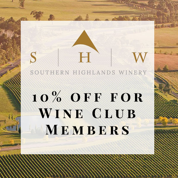 Southern Highlands Winery, Wine Club Discount